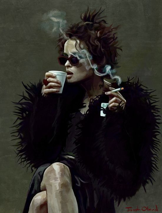 Marla Singer (remaining men together) Art Print