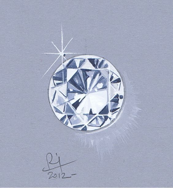 How To Draw A Diamond Top View