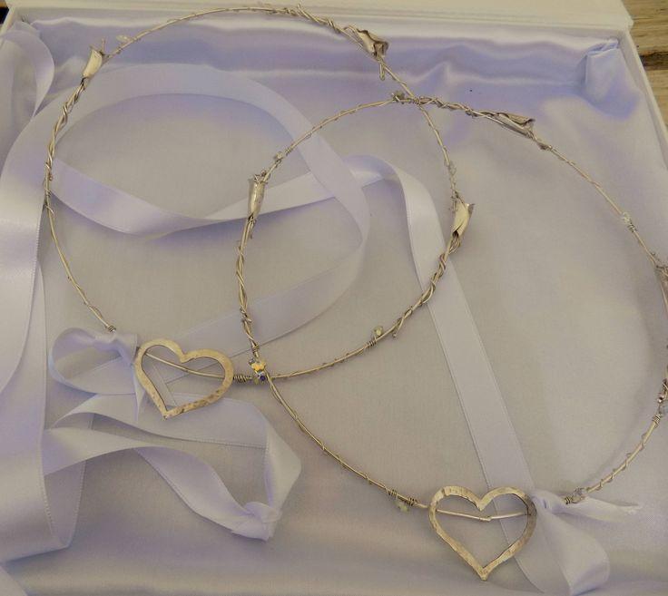 Swarovski Stefana,Greek Wedding Crowns,Orthodox Crowns,Wedding Headband,Wedding Crowns for Orthodox Wedding,Bridal Crowns Silver 925 by DimiCiar on Etsy