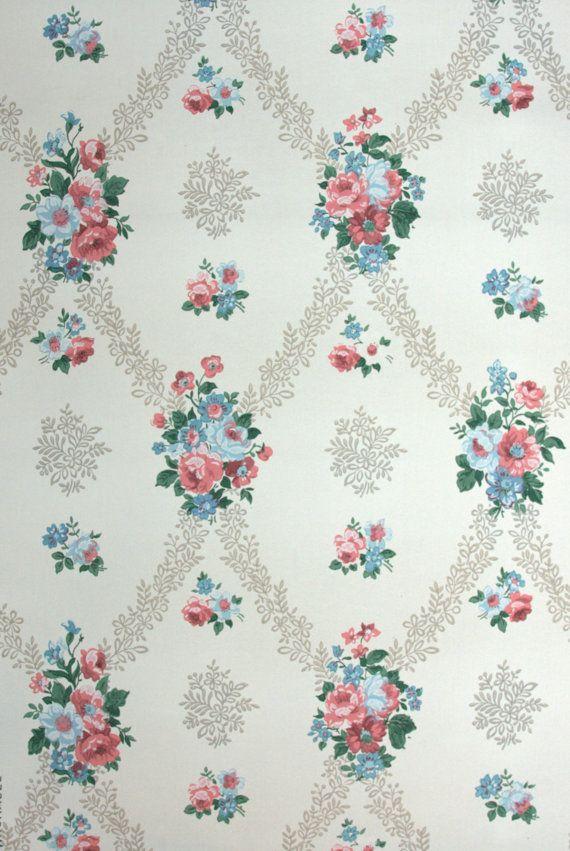 vintage wallpaper - Hannah's Treasures - floral wallpaper