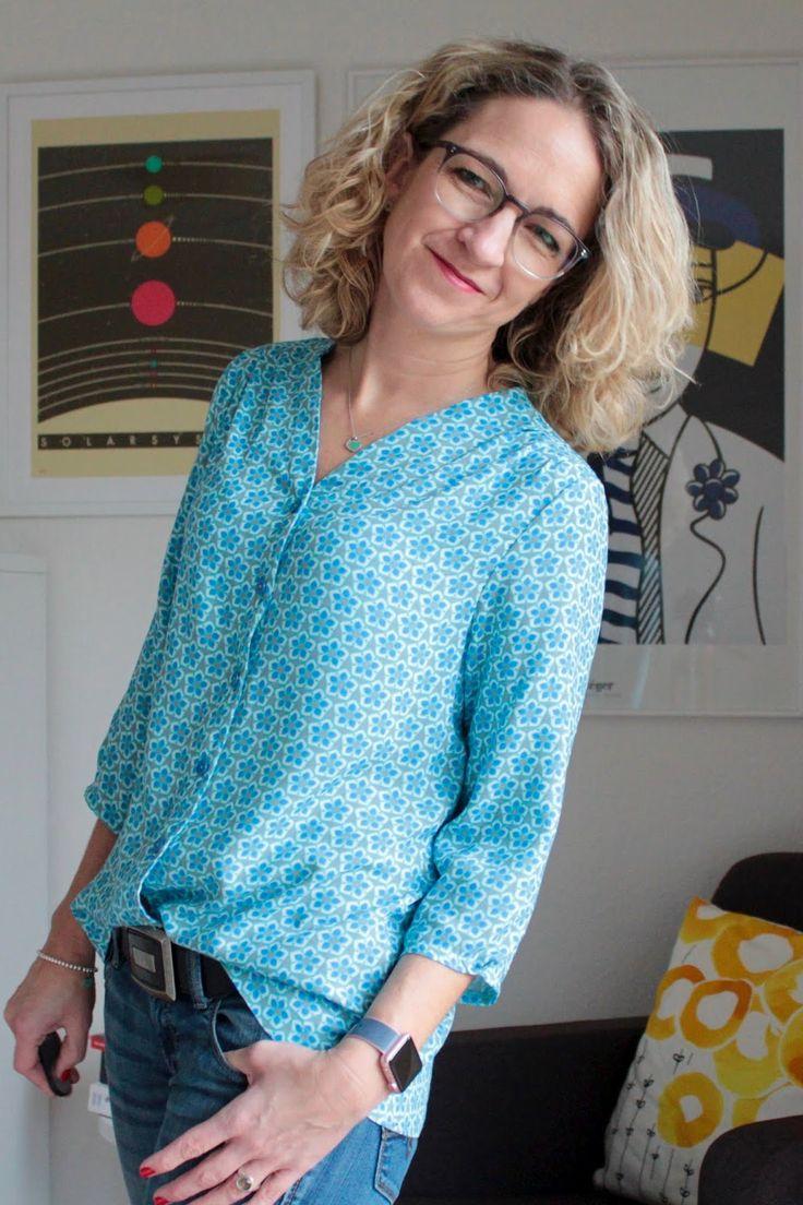 51 besten Bluse Bilder auf Pinterest | Bluse nähen, Kleidung nähen ...