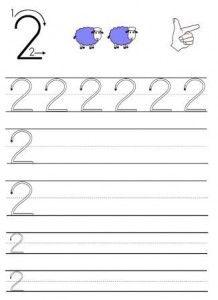image écrire chiffres maternelle