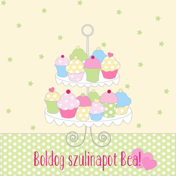 Birthday e-card with a cheerful and sweet design, for cupcake lovers!