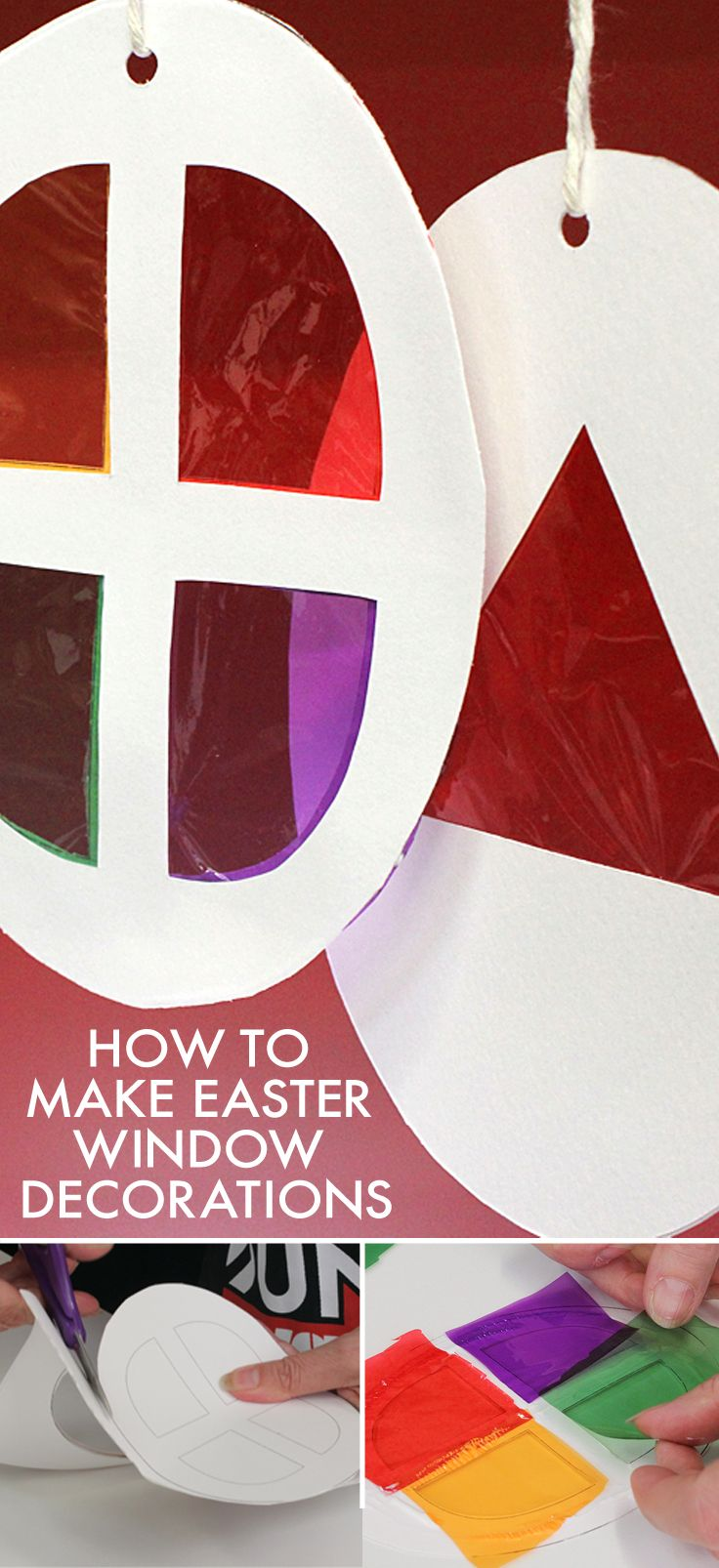 The kids will have loads of fun making these fun #Easter window decorations to hang in their bedroom windows.