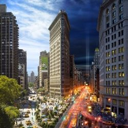 NYC's Day and Night Within A Single Photo! Created by artist Stephen Wilkes: Photos, Favorite Places, Stephen Wilkes, Night, New York City, Nyc, Flatiron, Newyork, Photography