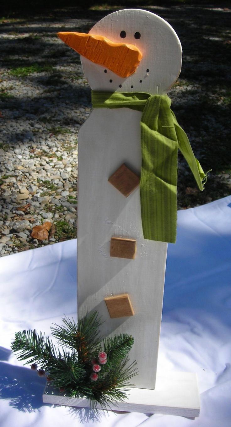 Wooden Snowman by KurtzCreations on Etsy, $20.00