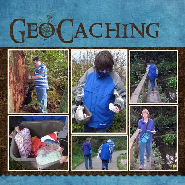 geocaching scrapbook layouts