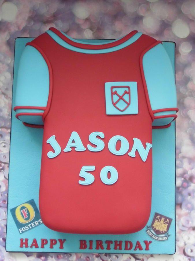 West Ham Retro Shirt Cake By Karen S Cakes And Bakes Shirt Cake Cake Design Inspiration Retro Shirts