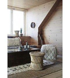 Madam Stoltz Wollen tapijt - loper ruit zwart-wit
