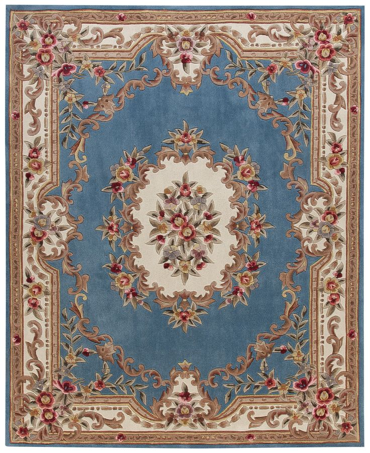 "Aubusson Rugs Macys: Kenneth Mink Dynasty Aubusson Light Blue 7'6"" X 9'6"" Area"