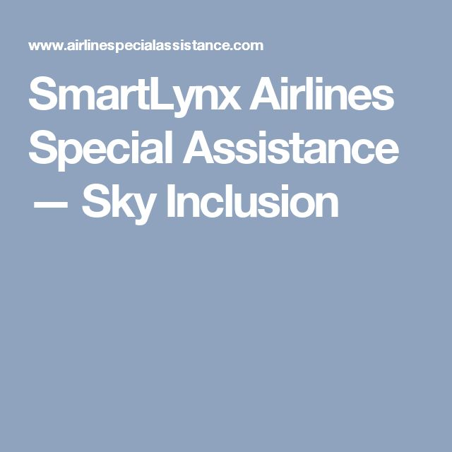 SmartLynx Airlines Special Assistance — Sky Inclusion