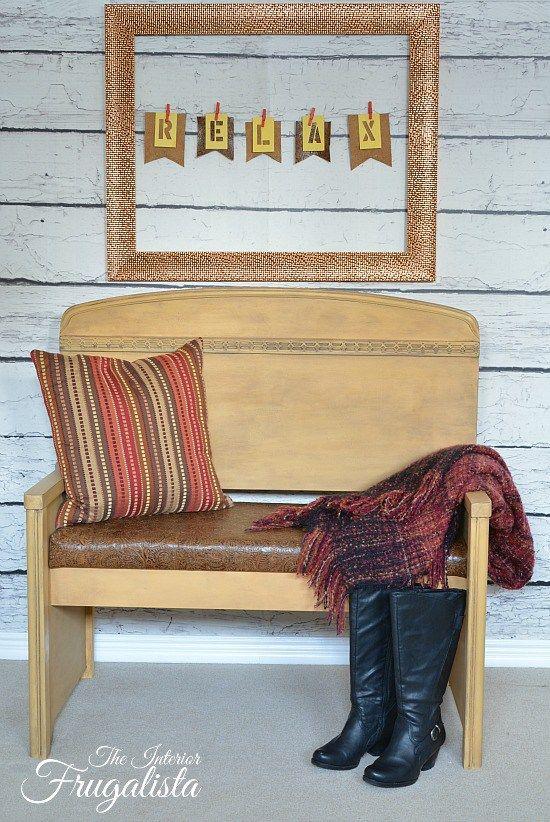 better with leather headboard bench by the interior frugalista - Aquarium Kopfteil Diy