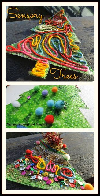 Sensory Christmas Tree Craft for all ages to enjoy...mummy musings and mayhem.com