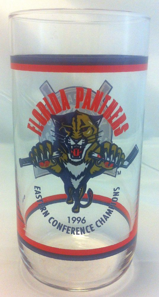 "Florida Panthers Hockey 1996 Champions 6"" Tall Glass #FloridaPanthers"