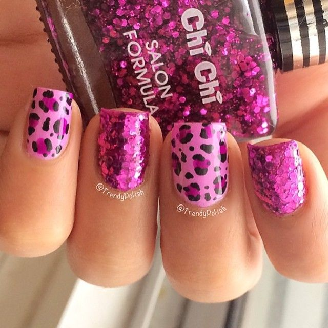 68 best Nail Art: Leopard Nails images on Pinterest | Cheetah nails ...