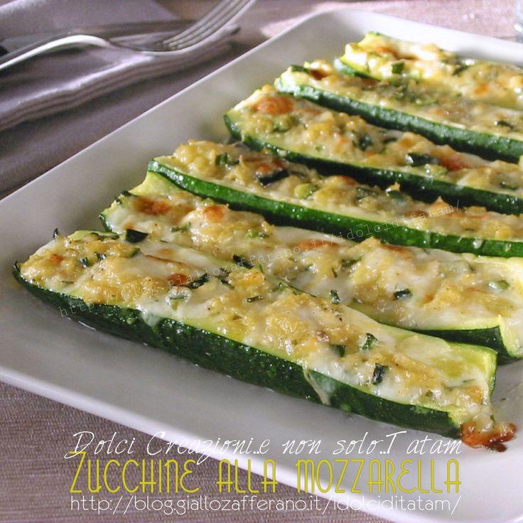 zucchine al forno con mozzarella