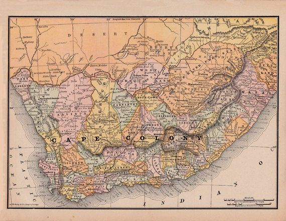 old map of Cape Colony, South Africa