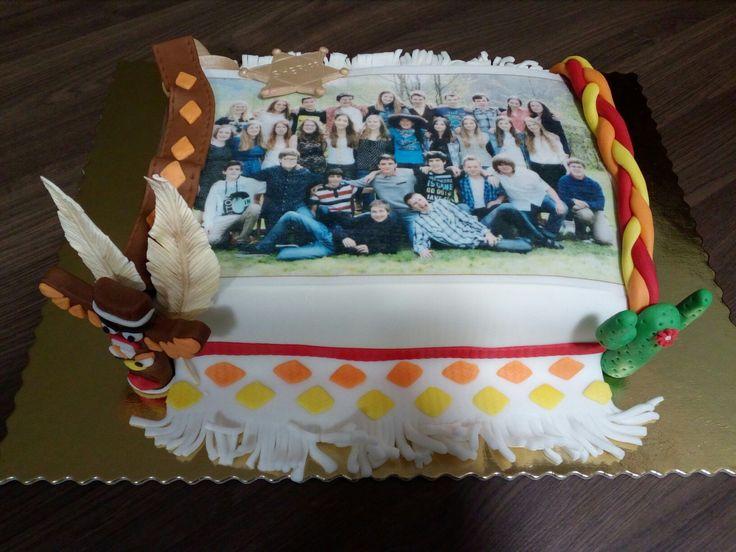 Mexico indian sheriff cake