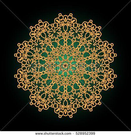 colorful mandala. golden flower. Decorative round ornament. Anti-stress mandala. Weave design mandala. Yoga logo, background for meditation poster.  Indian flower mandala. Oriental flourish vector