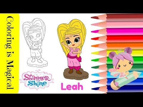 How To Trace And Color Leah From Shimmer Shine