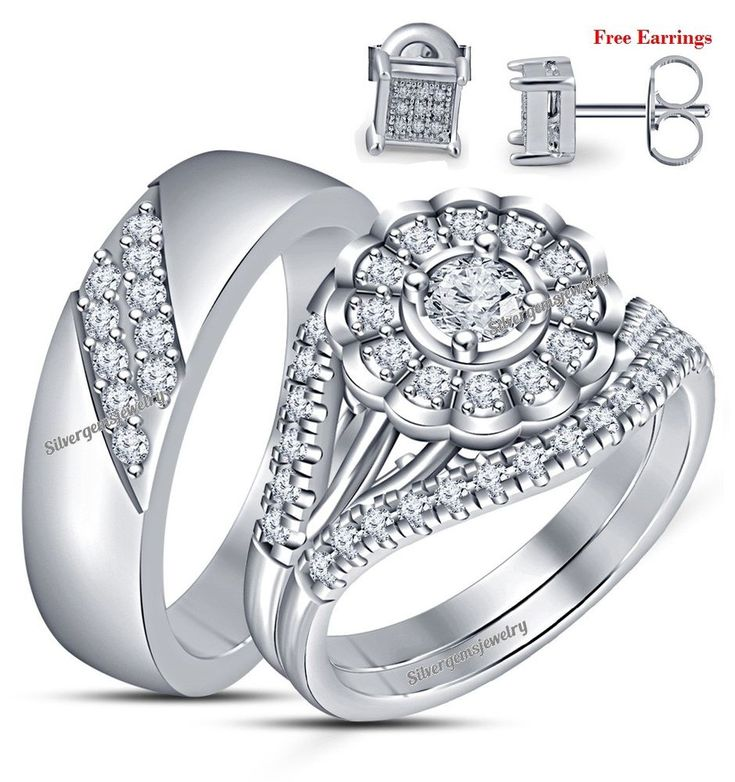1796 best Trio Ring Set images on Pinterest Promise rings Wedding