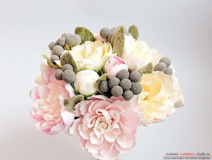 Букет из роз и лилий - цветы из полимерной глины и полимерные цветы своими руками. Фото №5
