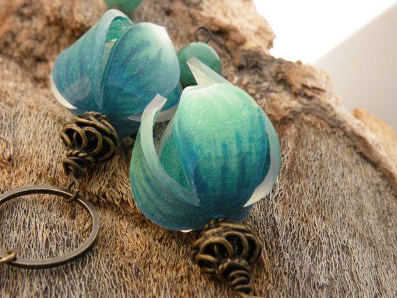 Sweet Flower Earrings--from shrink plastic