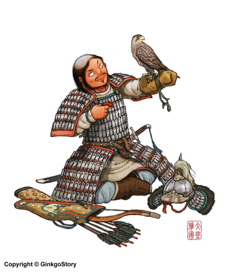 Liao Dynasty Cavalryman, Ginkgo Story on ArtStation at https://www.artstation.com/artwork/BJz4r
