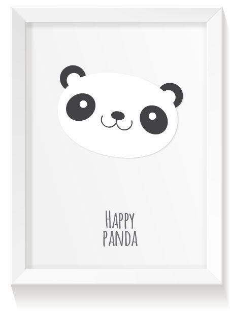 FREE Printable Nursery Panda Print