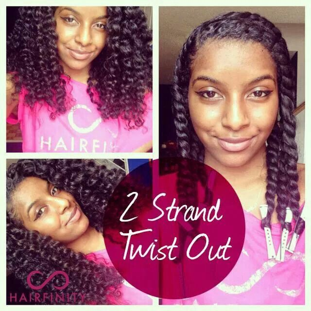 2 strand twist out .