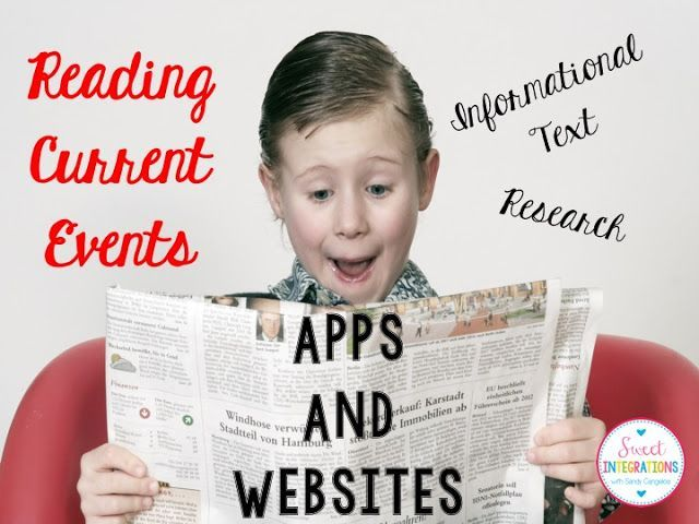 Reading Current Events - Apps and Websites to use for elementary students.