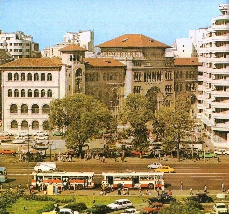 Bucuresti - Facultatea de Arhitectura, vedere dinspre Hotel Intercontinental, 1986