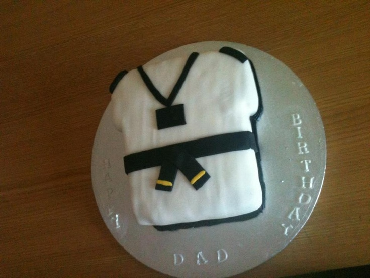 Dads Taekwondo birthday cake