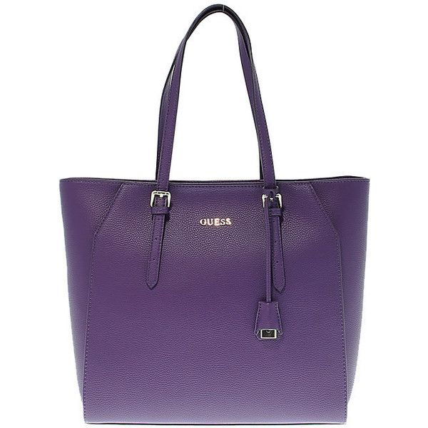 Guess Tote Bags (195 CAD) ❤ liked on Polyvore featuring bags, handbags, tote bags, guess tote bags, purple tote, tote bag purse, tote purses and handbags totes