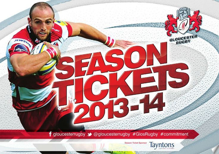 Glosder rugby  shed season ticket