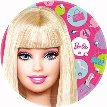 barbie party tableware