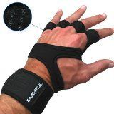 PULL UP CROSSFIT GLOVES  Unique Strong Hand Protectors With Wrist Brace  Comfortable Grips For Gymnastics And WOD Cross Training  Better Than Weight Lifting Gloves Or Pads  100% Emerge Guarantee