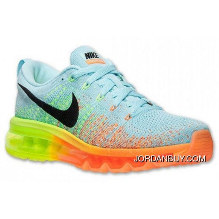 Nike Flyknit Air Max Orange Light Blue Mens Womens, Price: $85.00 - Michael Jordan Shoes, Shop The Air Jordan Shoes | JordanBuy.com