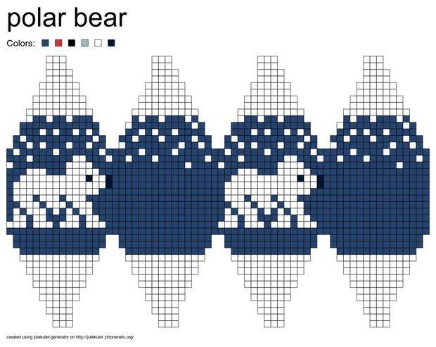 Eisbär-Julekule – gestrickte Christbaumkugeln - Alle - Deutsch