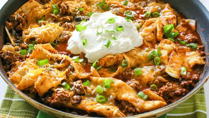 This Easy Beef Burrito skillet is a weeknight meal ready in under 20 minutes.