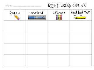 Sight Word Freebie...words to switch out weekly to make a this a constant station for the end of the year.