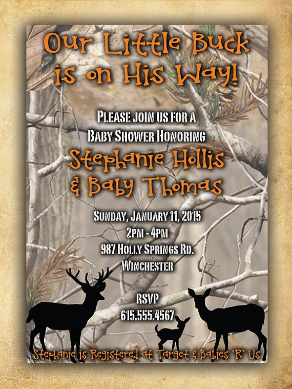 Camouflage Baby Shower Invitation for Boy by six8twelvedesigns
