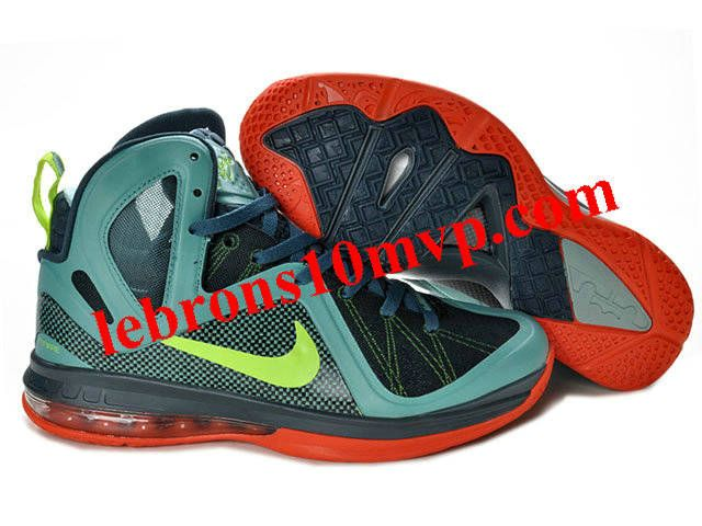 Nike LeBron 9(IX) P.S. Elite Shoes Green/Red