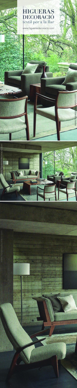 Consigue unir el interior y el exterior con una paleta de colores orgánicos y terrosos. Telas espesas tejidas con hilos hilados a mano. Un regalo para los sentidos.  www.higuerasdecoracio.com