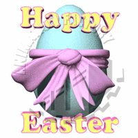Happy Easter with Egg Animated Clipart