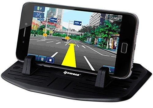 Upgrade Second Generation IPOW Car Silicone Pad Dash Mat Cell Phone Mount Holder Cradle Dock For Phone Samsung Galaxy S7/S6/S5/S4 edge 7iPhone 7/6/6S(plus) SETable PC Holder With 2 Size Holder Parts