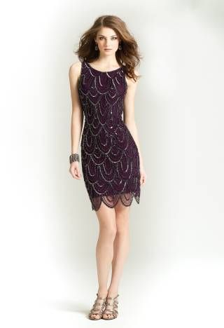 Sleeveless Short Beaded Dress from Camille La Vie and Group USA