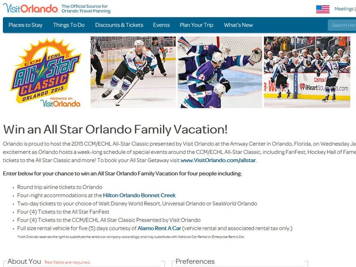 Enter the VisitOrlando.com Win an Orlando Family Vacation Sweepstakes for a chance to win a 5-day/4-night trip for four to Orlando, FL!