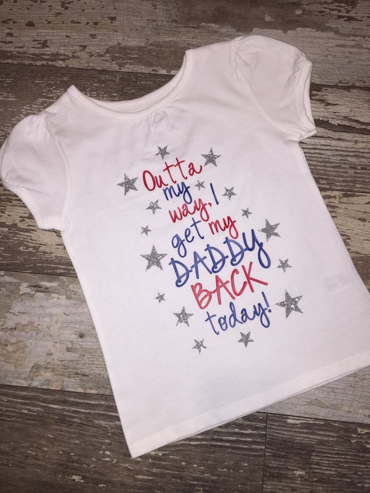 Military Welcome Home Daddy Shirt; Can Customize for Mommy, Uncle, Brother, etc. by ShopLuckyPenny on Etsy
