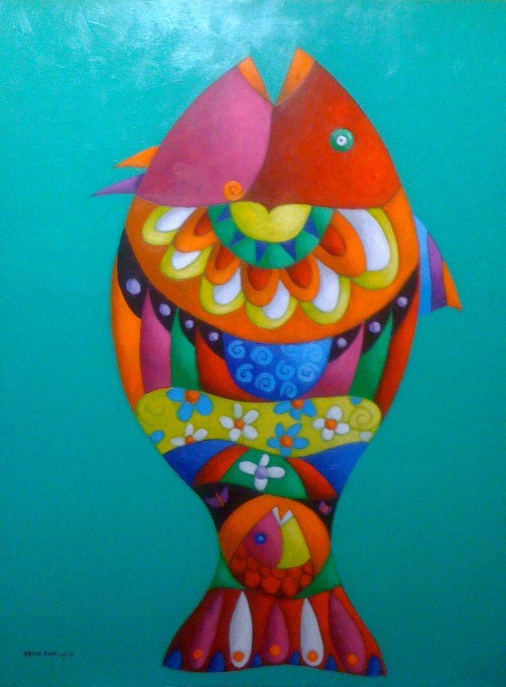 serie '' arte marino '' acrilico sobre lona - 2014 . obra original .                                                                                                                                                      Más